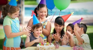 child's healthy birthday party