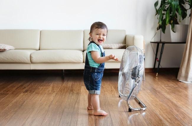 fan in child room